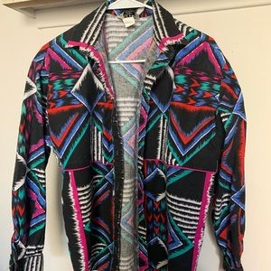 Vintage Rafter JX Neon Abstract Retro Button Down